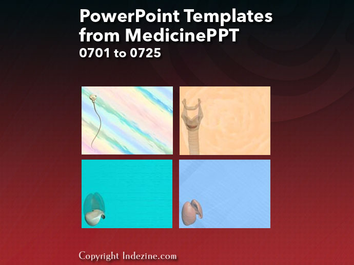 PowerPoint Templates from MedicinePPT 029: Designs 0701 to 0725