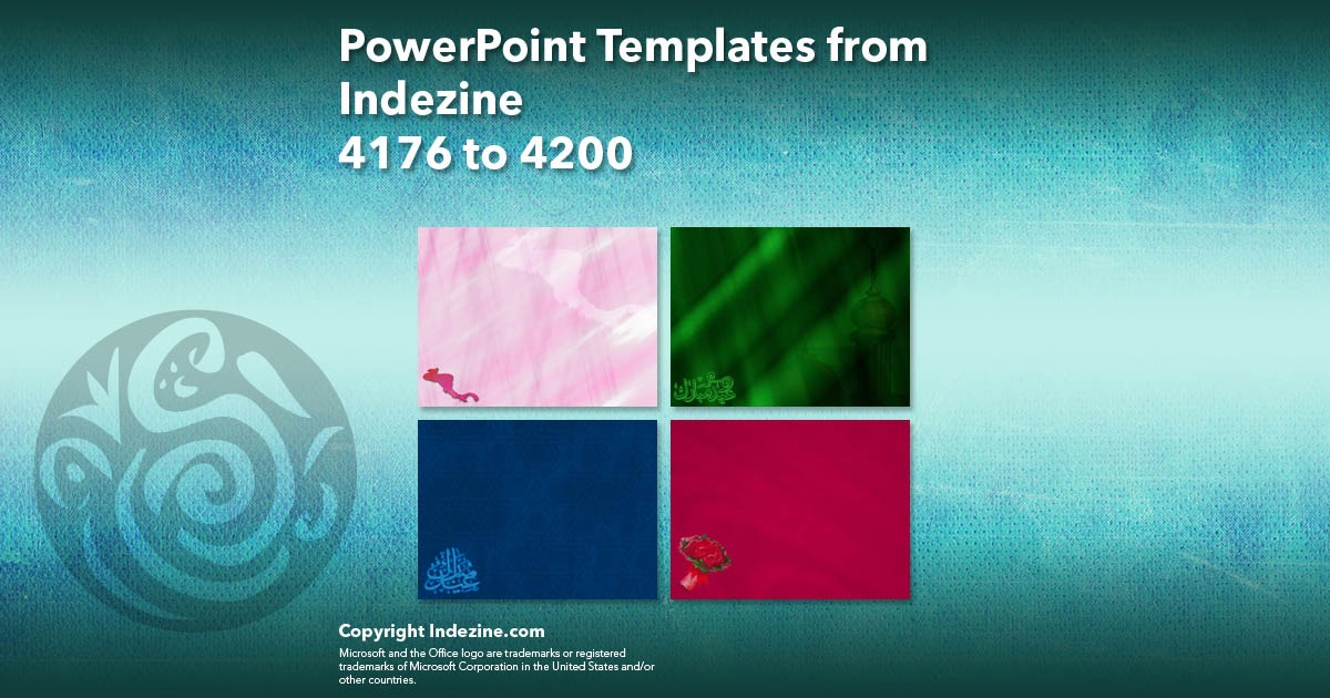 PowerPoint Templates from Indezine 168: Designs 4176 to 4200