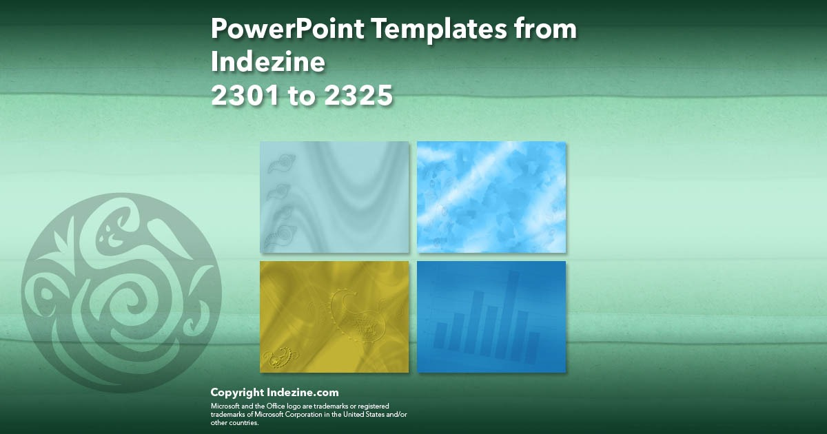 PowerPoint Templates from Indezine 093: Designs 2301 to 2325