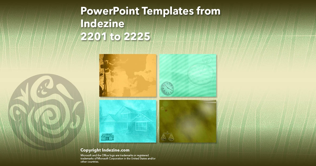 PowerPoint Templates from Indezine 089: Designs 2201 to 2225