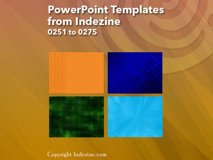 PowerPoint Templates from Indezine 011: Designs 0251 to 0275