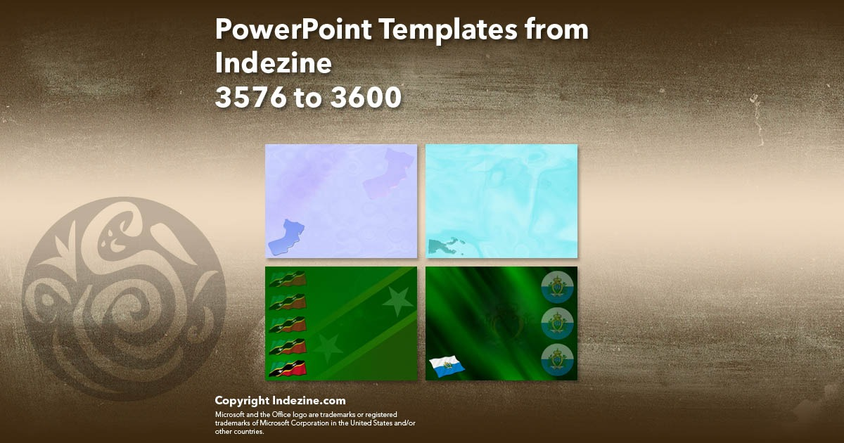PowerPoint Templates from Indezine 144: Designs 3576 to 3600