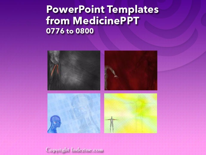 PowerPoint Templates from MedicinePPT 032: Designs 0776 to 0800