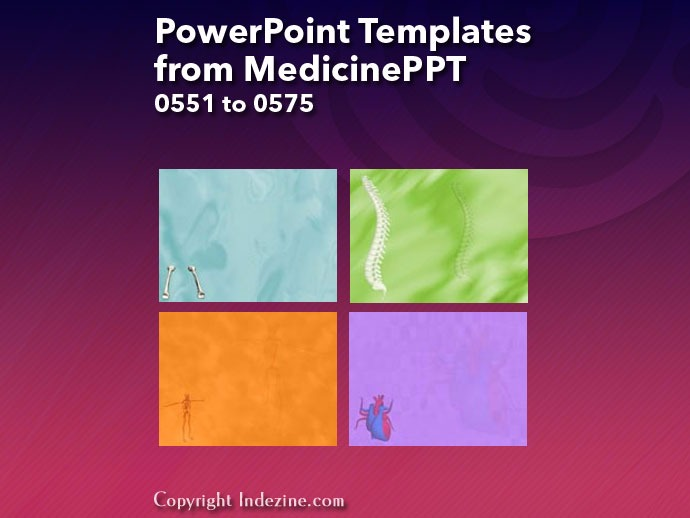 PowerPoint Templates from MedicinePPT 023: Designs 0551 to 0575