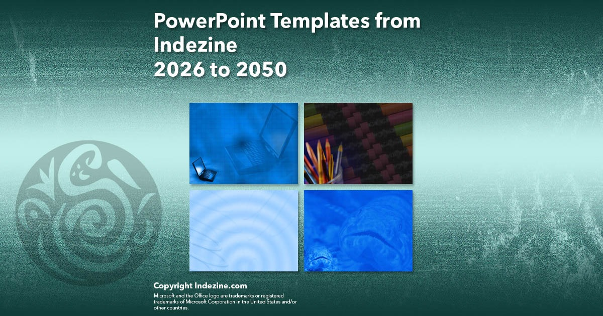 PowerPoint Templates from Indezine 082: Designs 2026 to 2050
