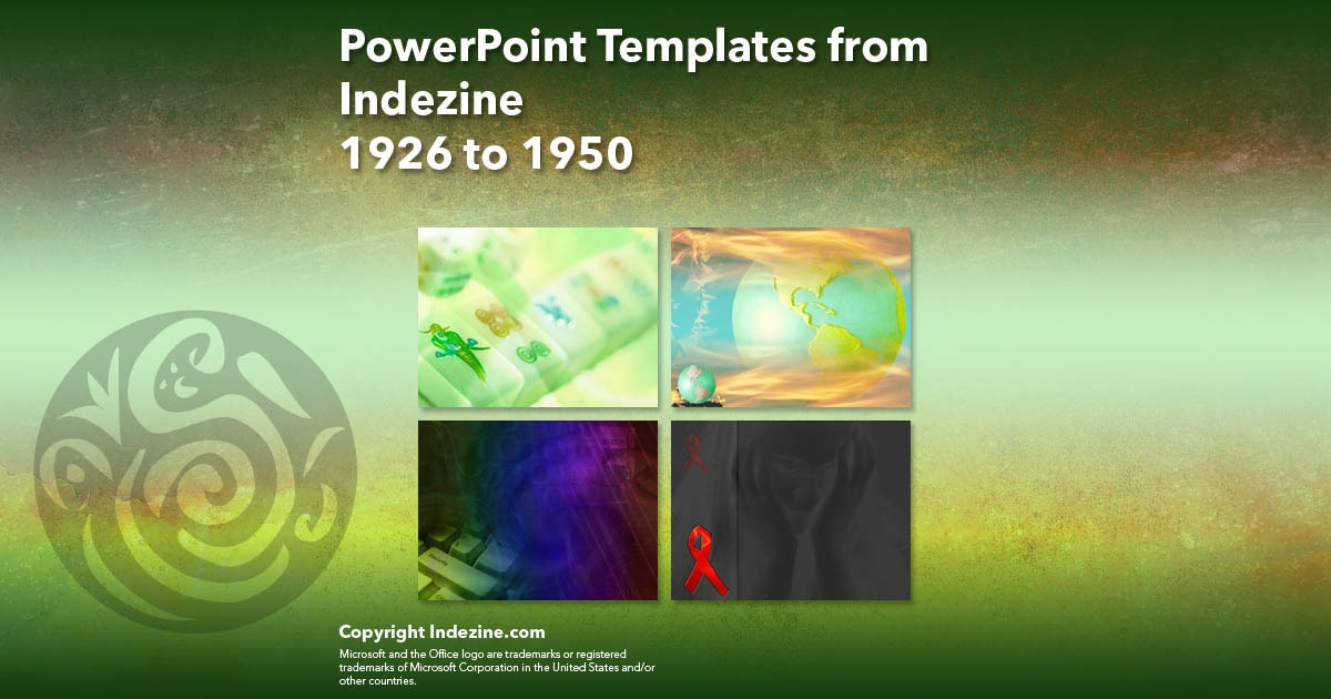 PowerPoint Templates from Indezine 078: Designs 1926 to 1950