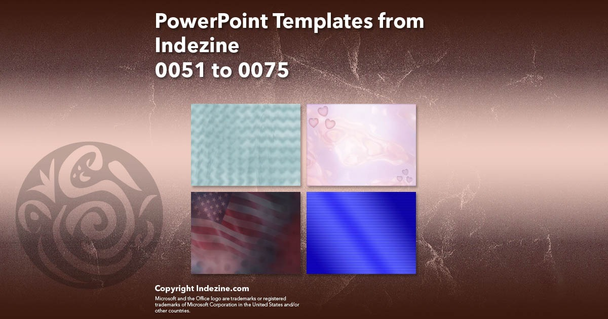 PowerPoint Templates from Indezine 003: Designs 0051 to 0075