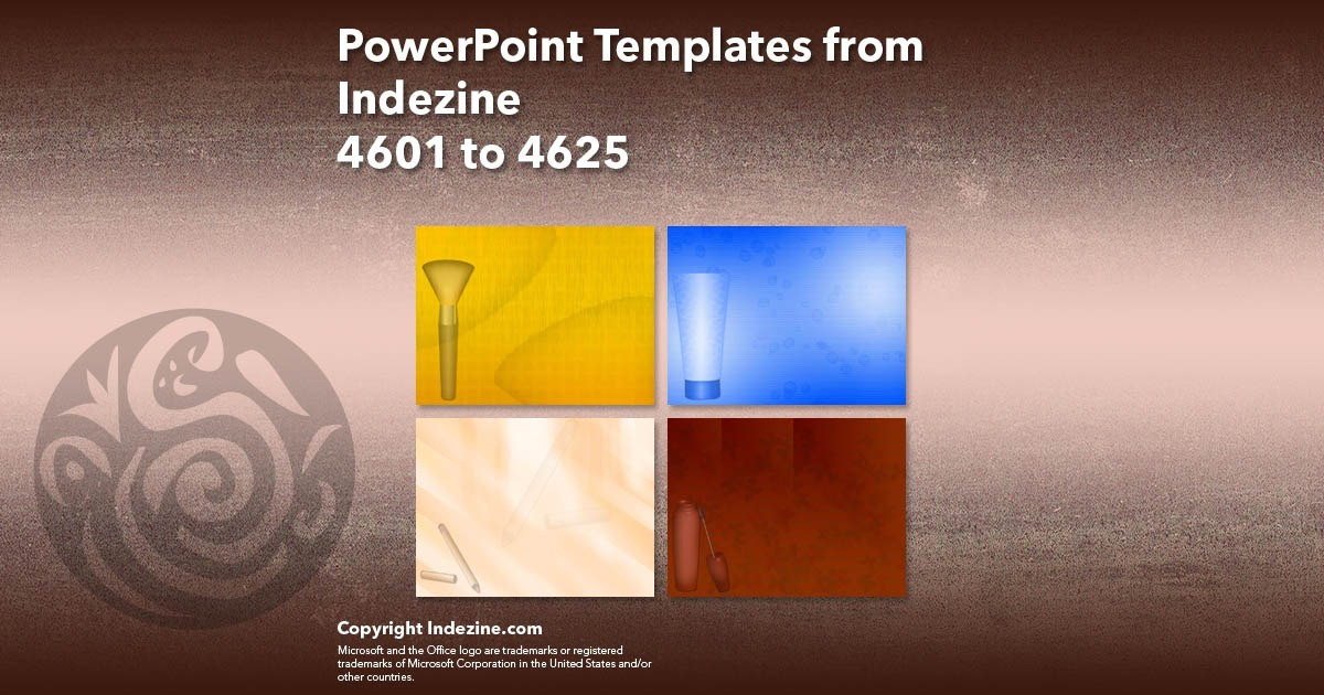 PowerPoint Templates from Indezine 185: Designs 4601 to 4625