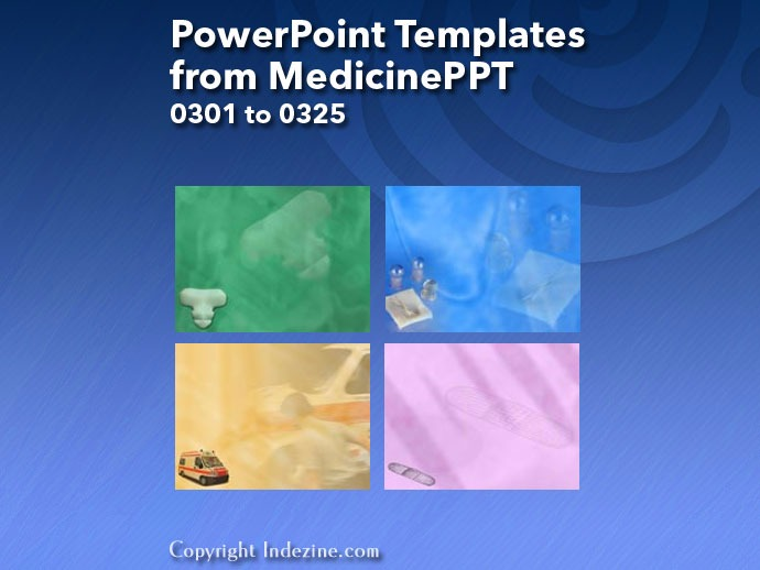 PowerPoint Templates from MedicinePPT 013: Designs 0301 to 0325