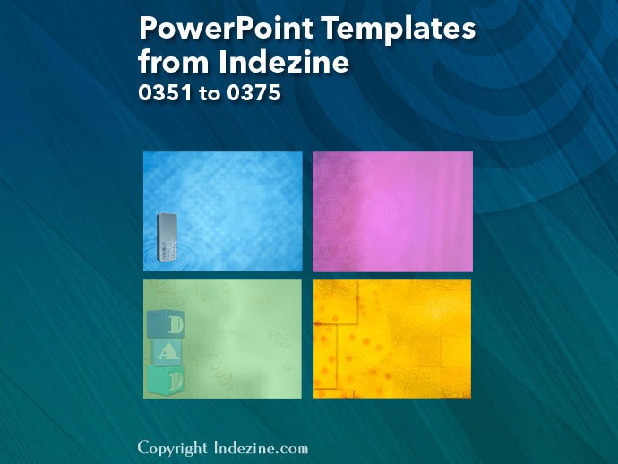 PowerPoint Templates from Indezine 015: Designs 0351 to 0375