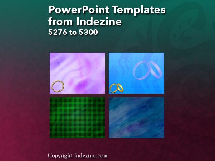 PowerPoint Templates from Indezine 212: Designs 5276 to 5300