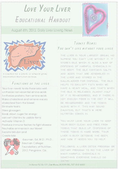 Full Liver Detox Approaches Research and References plus Meal Plan and Recommendations