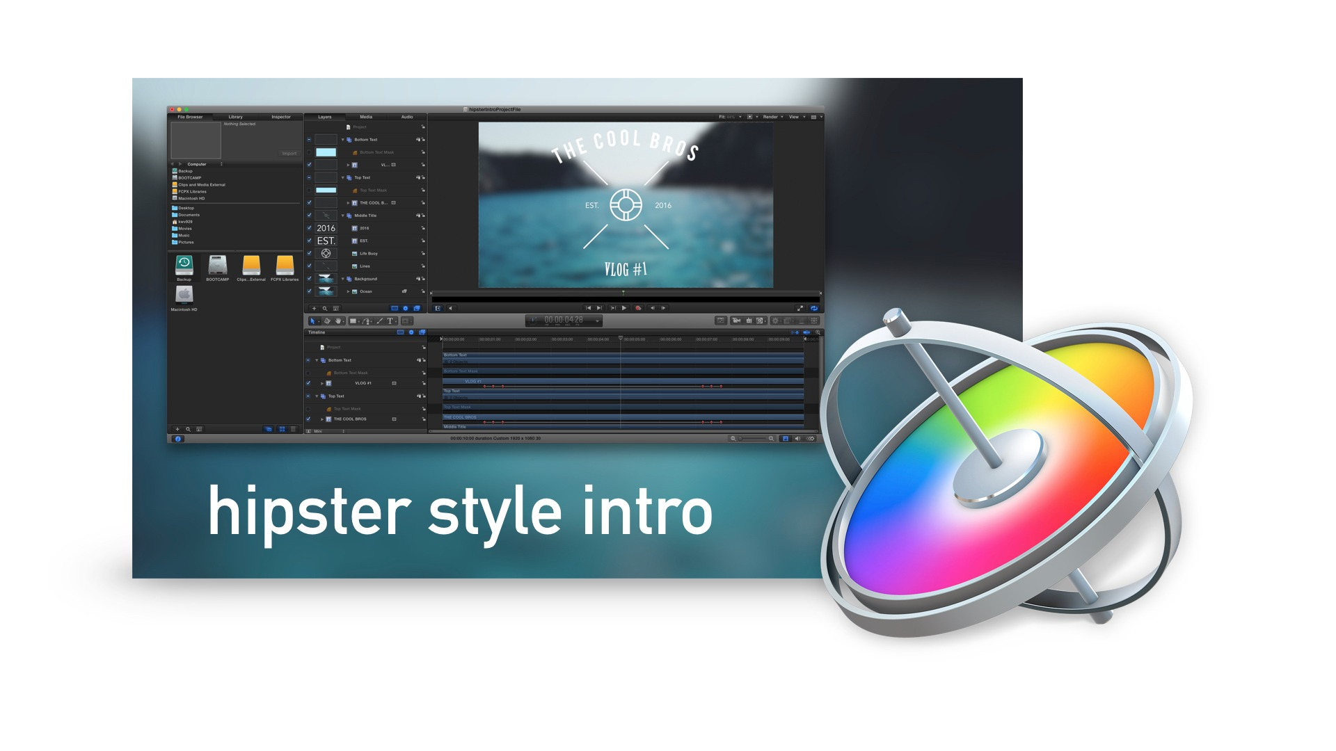 How to Create a Hipster Style Intro in Motion 5 Project Files