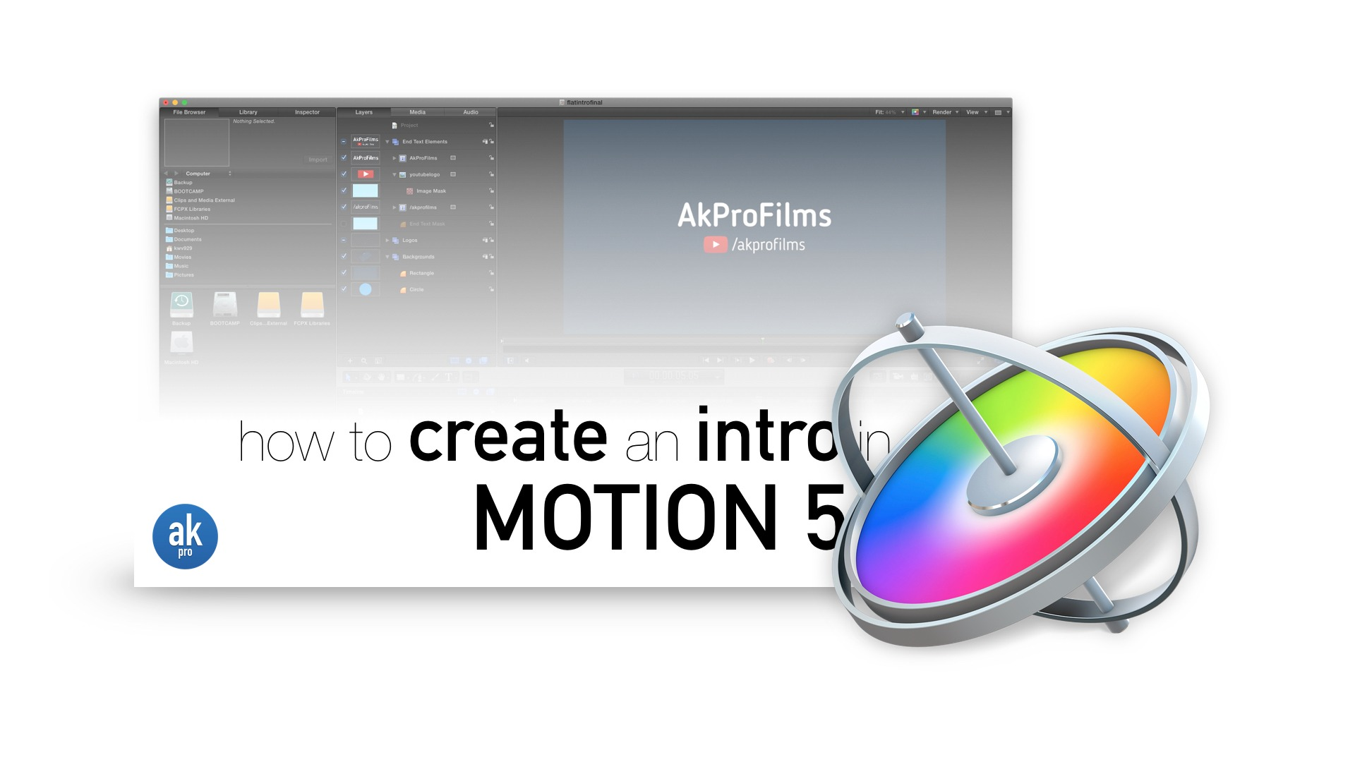 How to Create a Flat Intro in Motion 5 Project Download