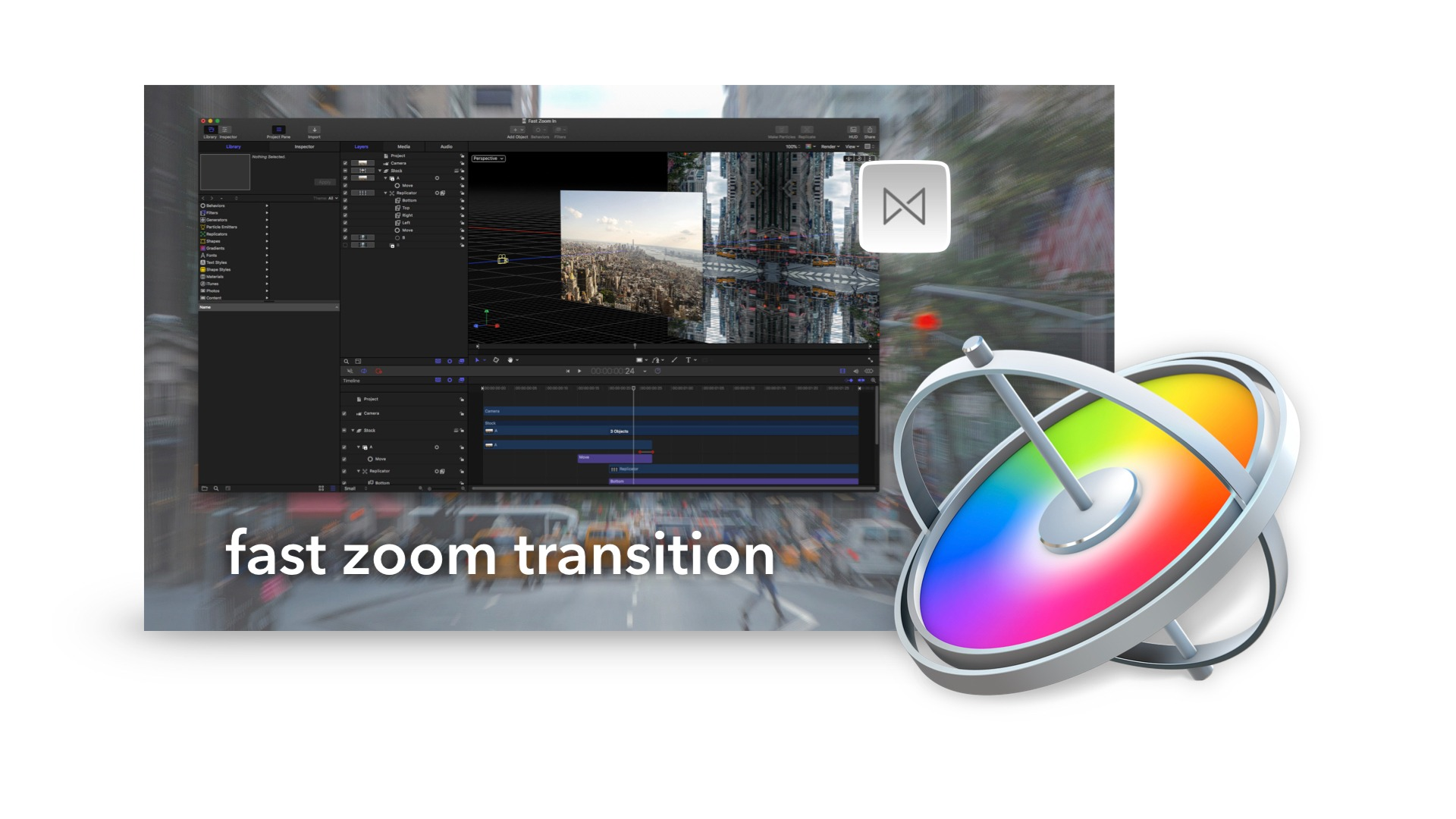 Fast Zoom Transition Project File