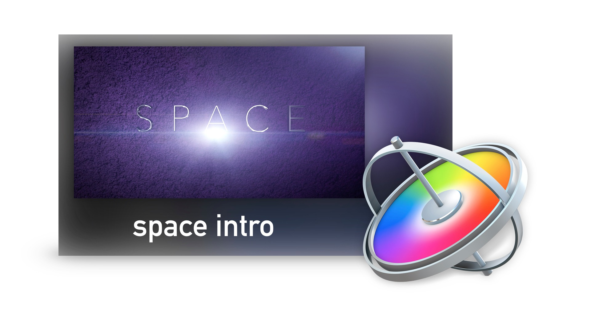 How to Create a Space Intro in Motion 5 Project File & Lens Flare Clip