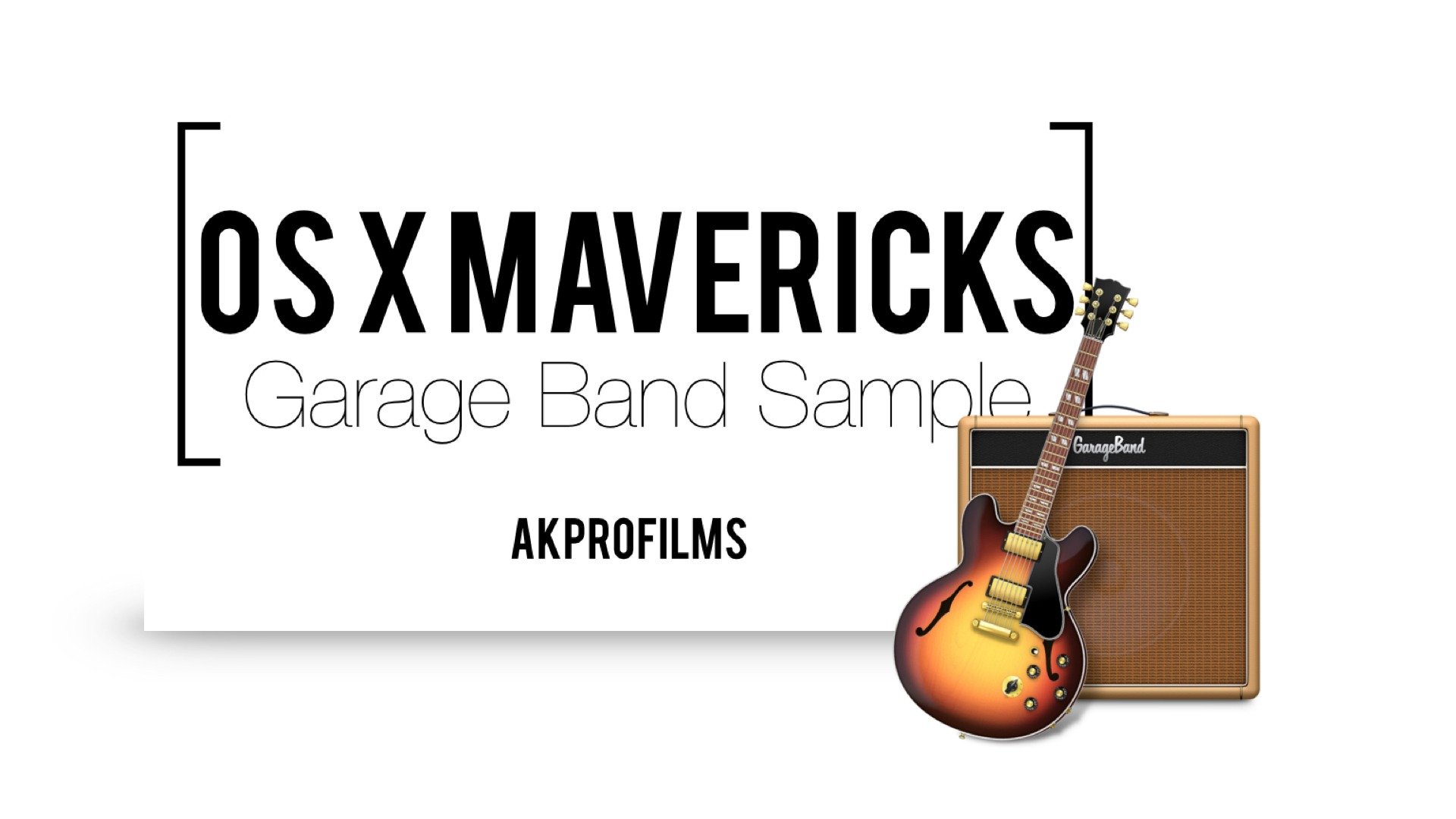 OS X Mavericks Garage Band Sample Music