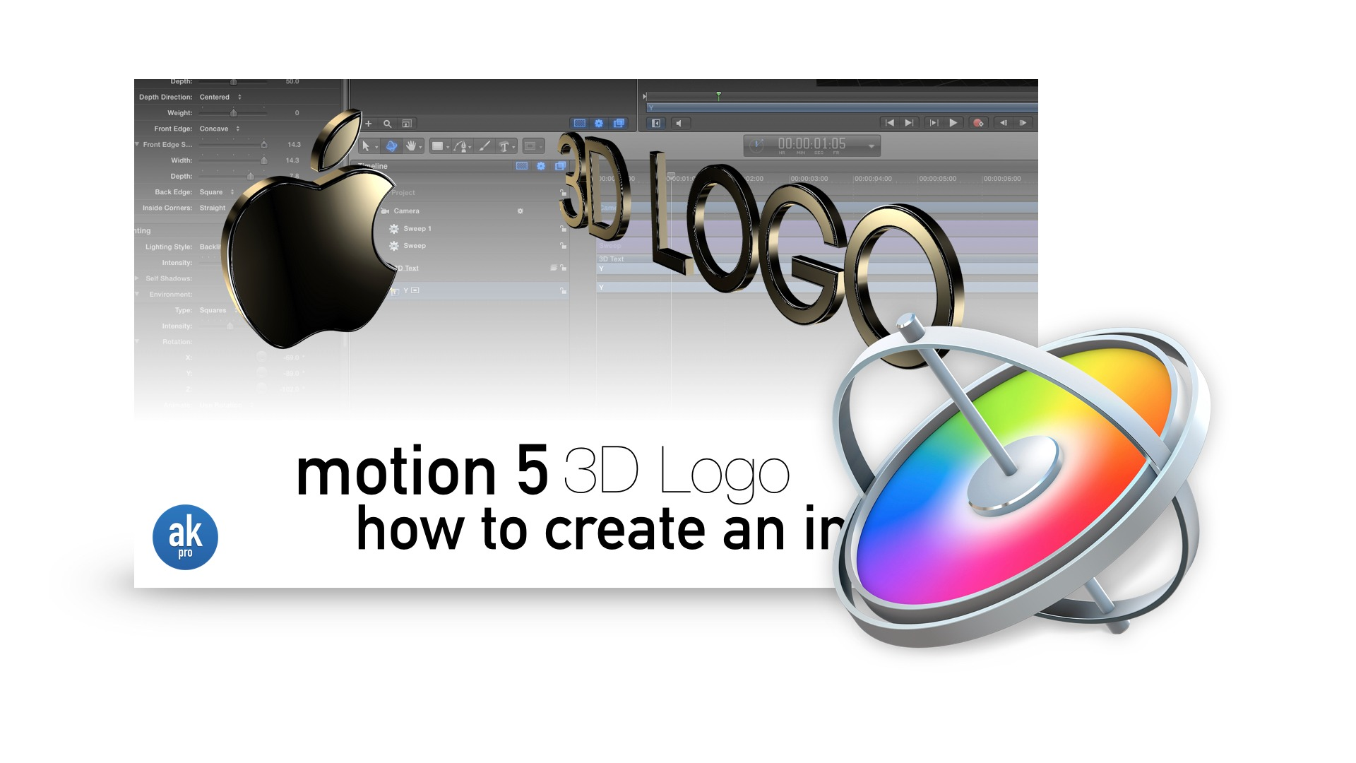 Motion 5 3D Logo Tutorial Project Download