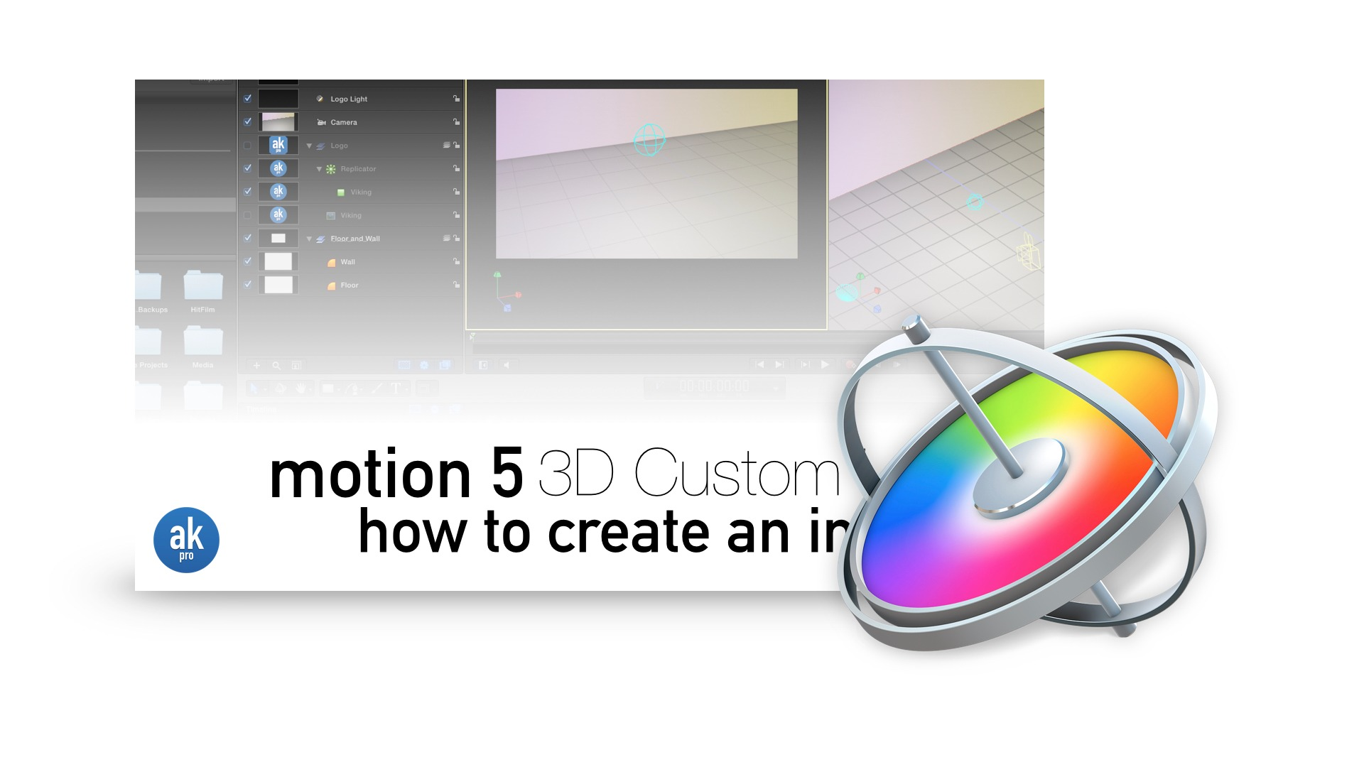 Motion 5 3D Custom Logo Tutorial Project Download