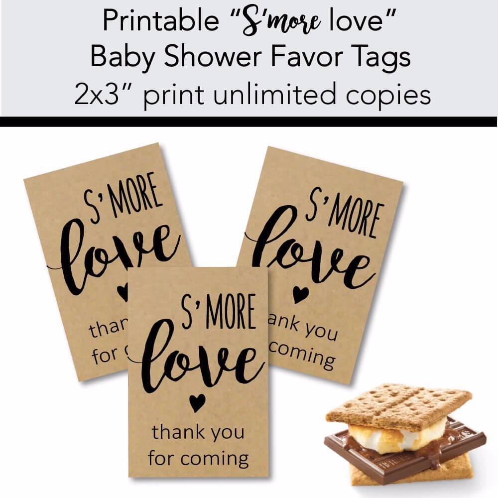 Printable S'more Love Favor Tags
