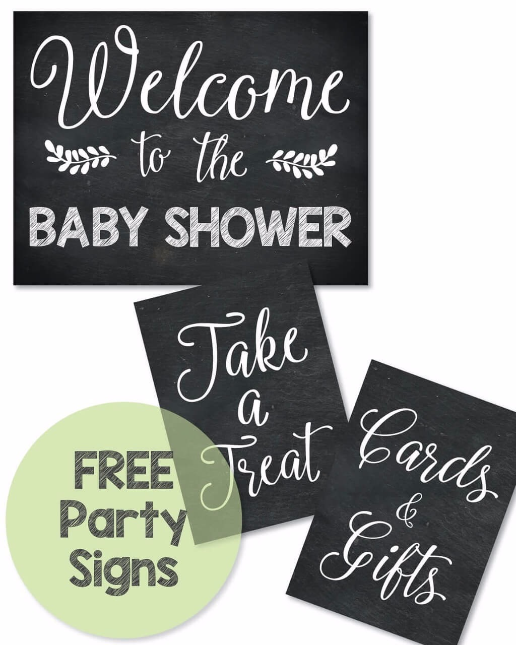 FREE Printable Baby Shower Signs
