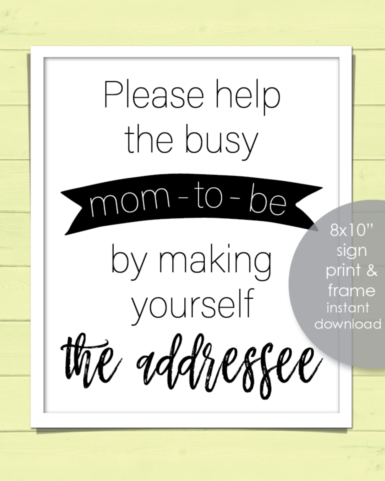 Printable Address Request Baby Shower Sign