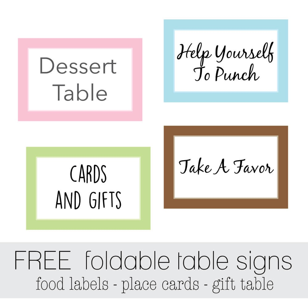 Free Printable Food Labels