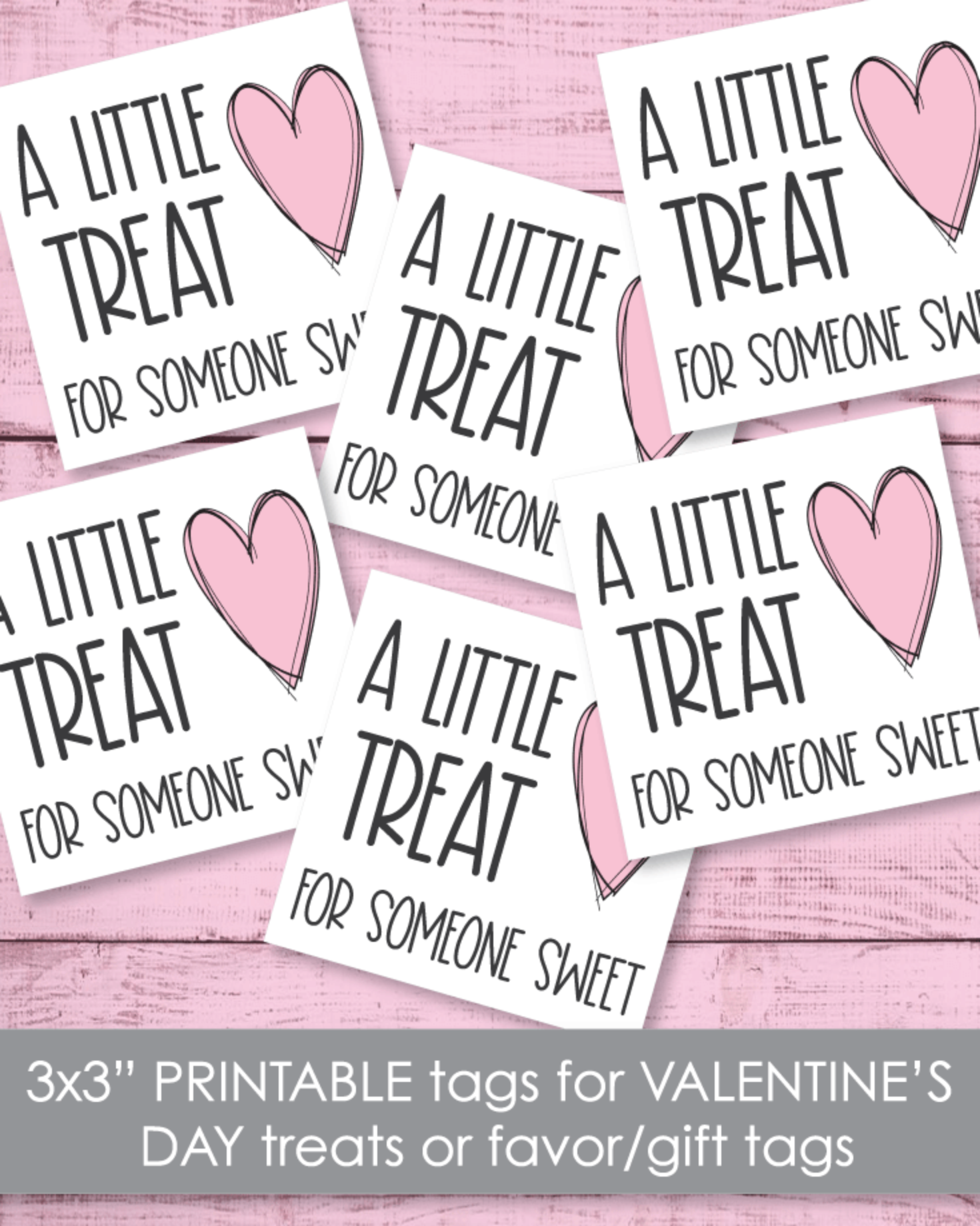 "Printable Heart Treat Tags 3""x3"""
