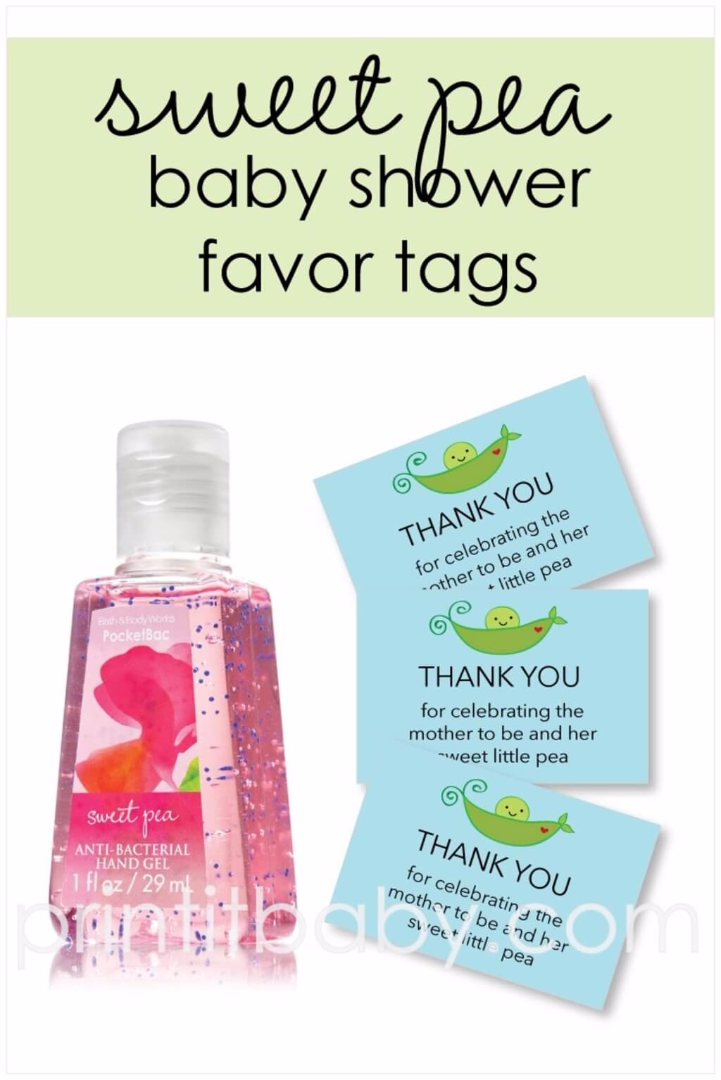 Free Printable Blue Sweet Pea Favor Tags