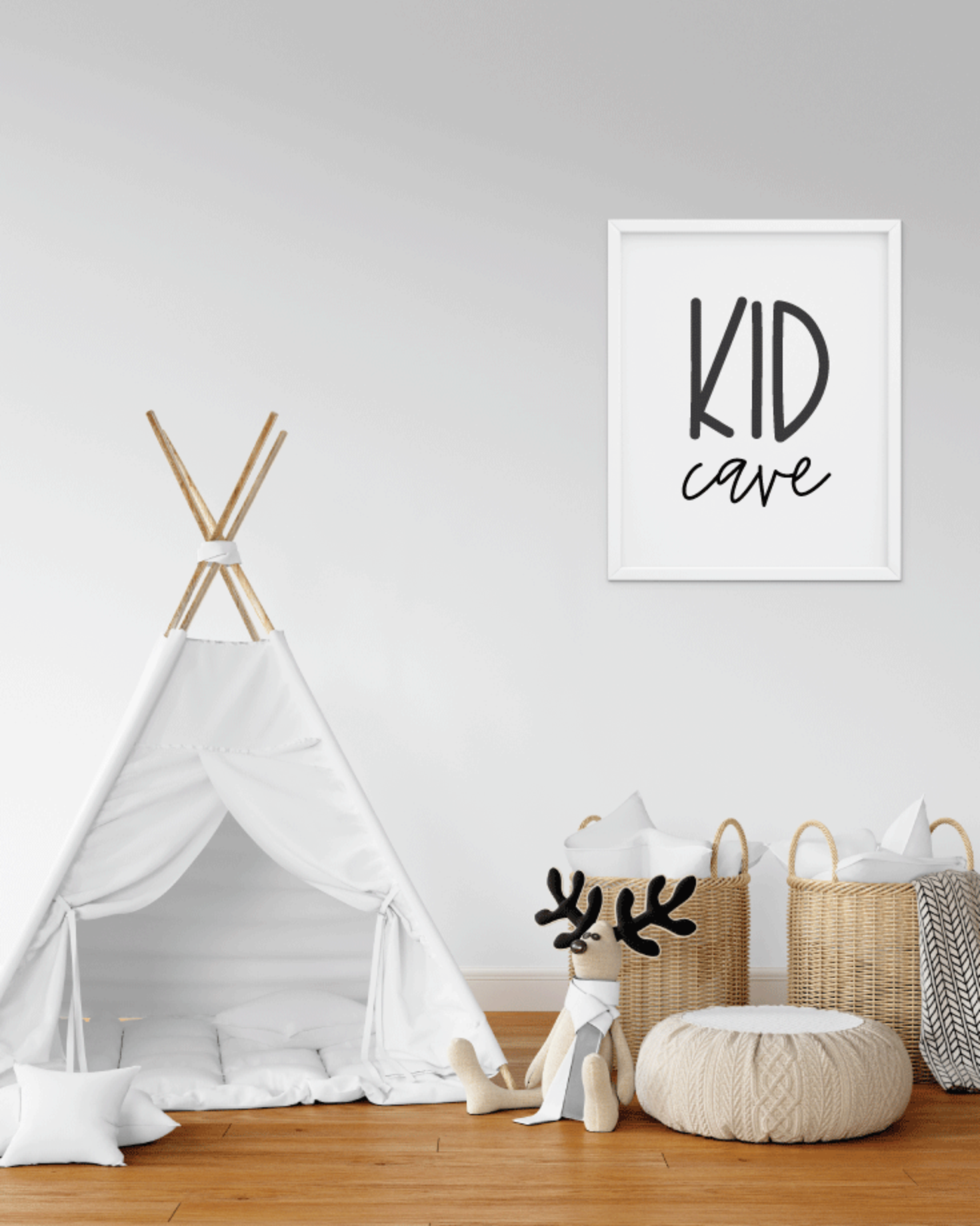 "Printable Kid Cave, 8x10"" Wall Art Sign - Kid Playroom or Bedroom Sign"