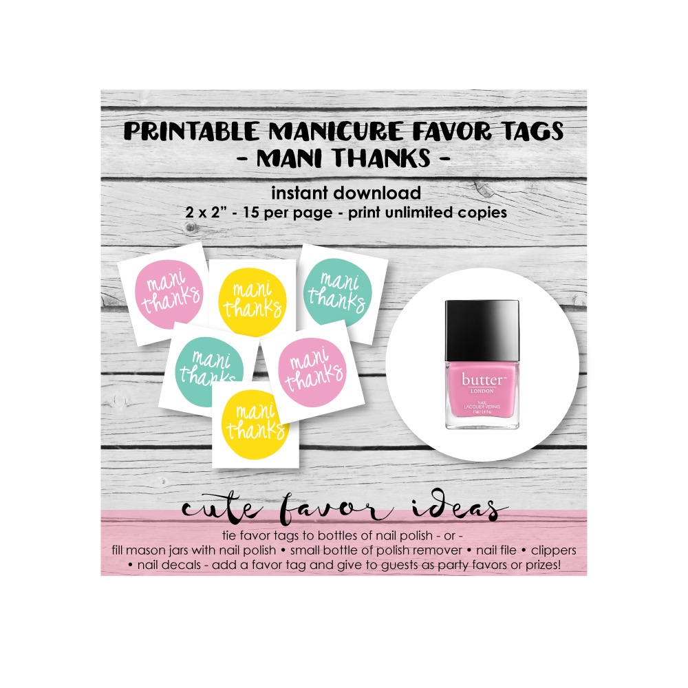 Mani Thanks Favor Tags