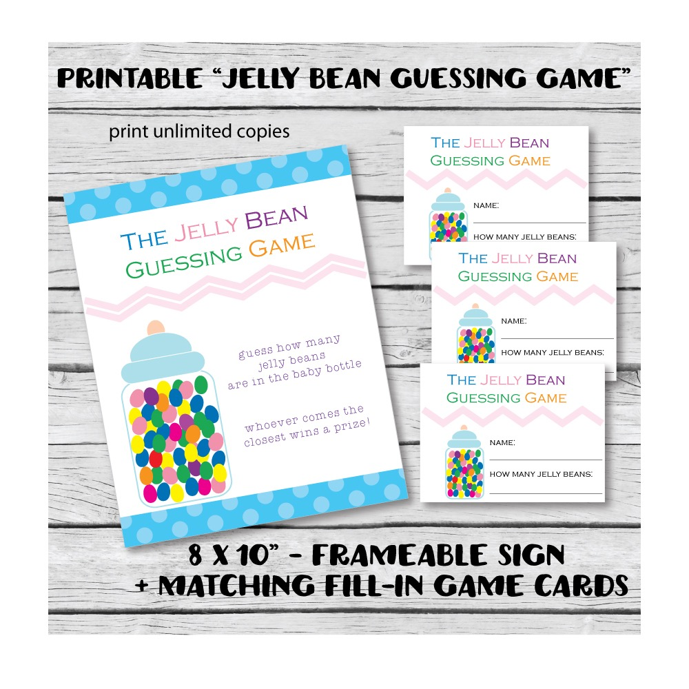 Printable Jelly Bean Baby Shower Candy Guessing Game