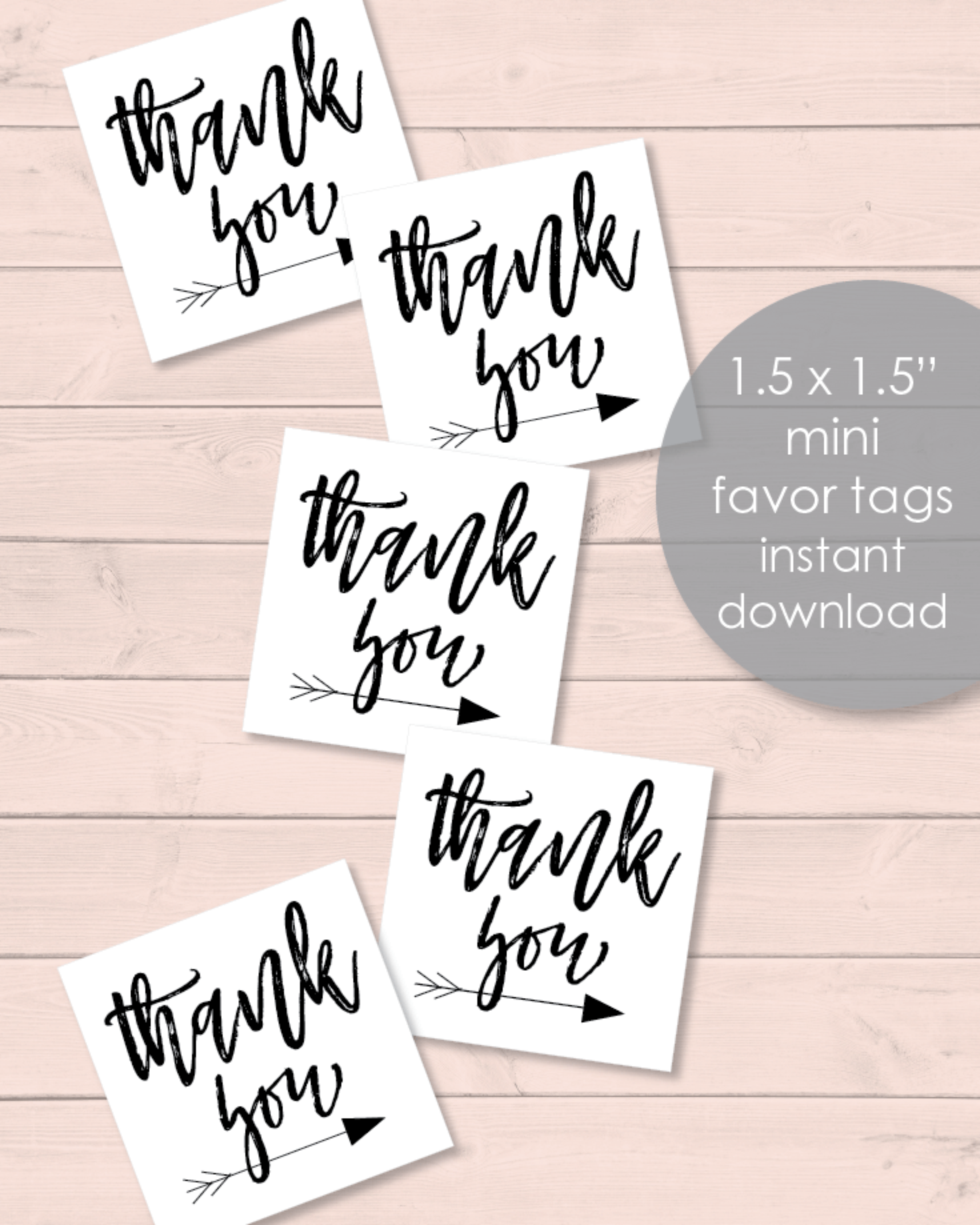 Printable Boho Arrow Baby Shower Mini Favor Tags