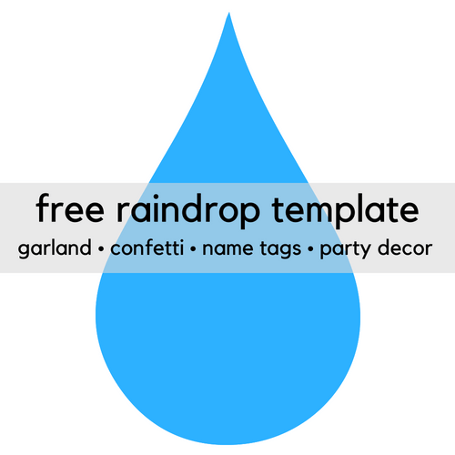 Free Printable Raindrop Clip Art Template