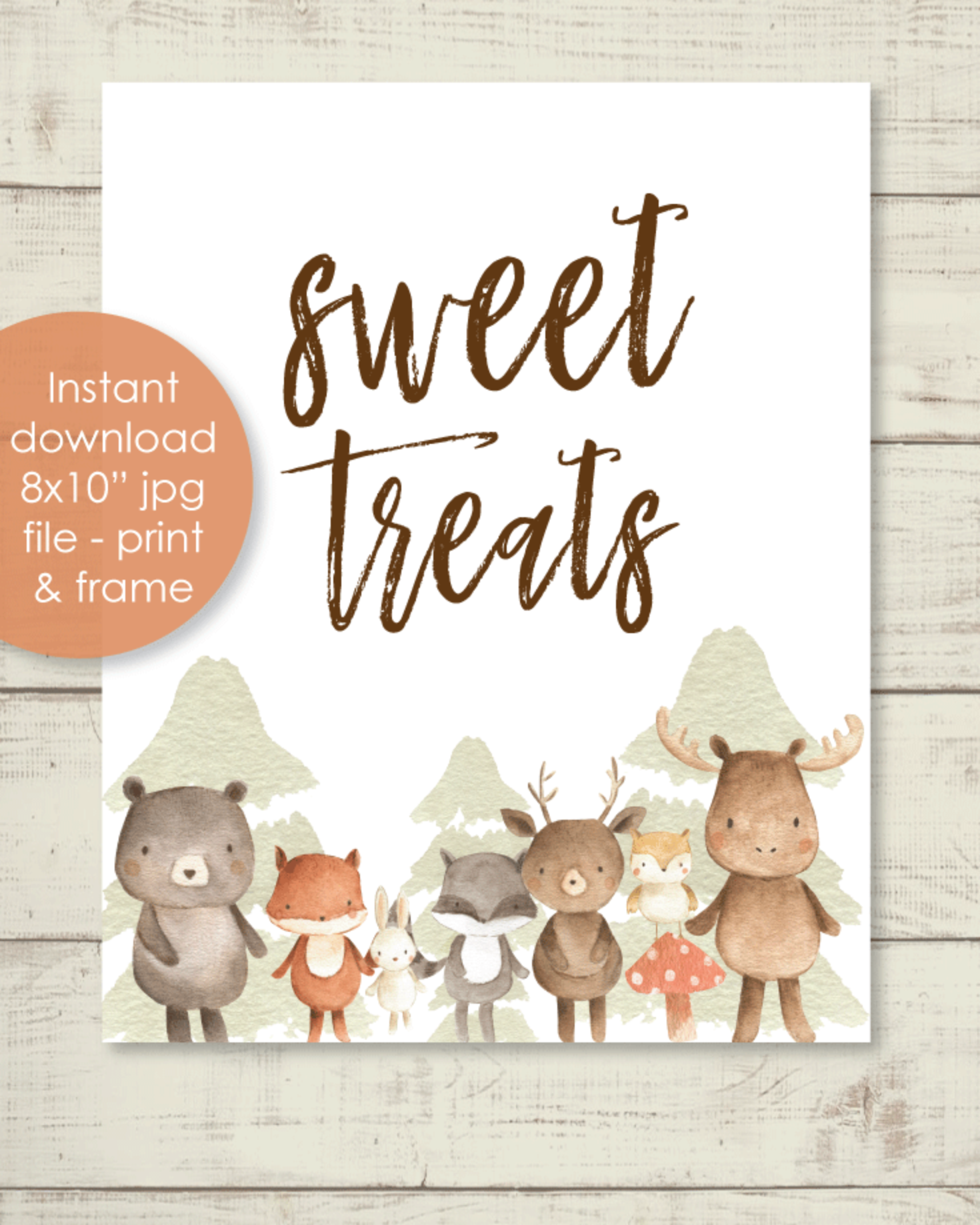 Printable Sweet Treats Sign - 8x10