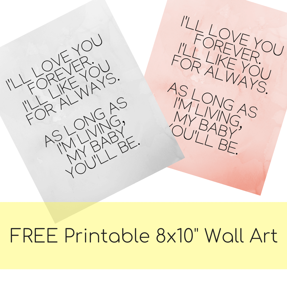 """FREE Printable 8x10"""" My Baby You'll Be Sign Pink And Gray Marble"""