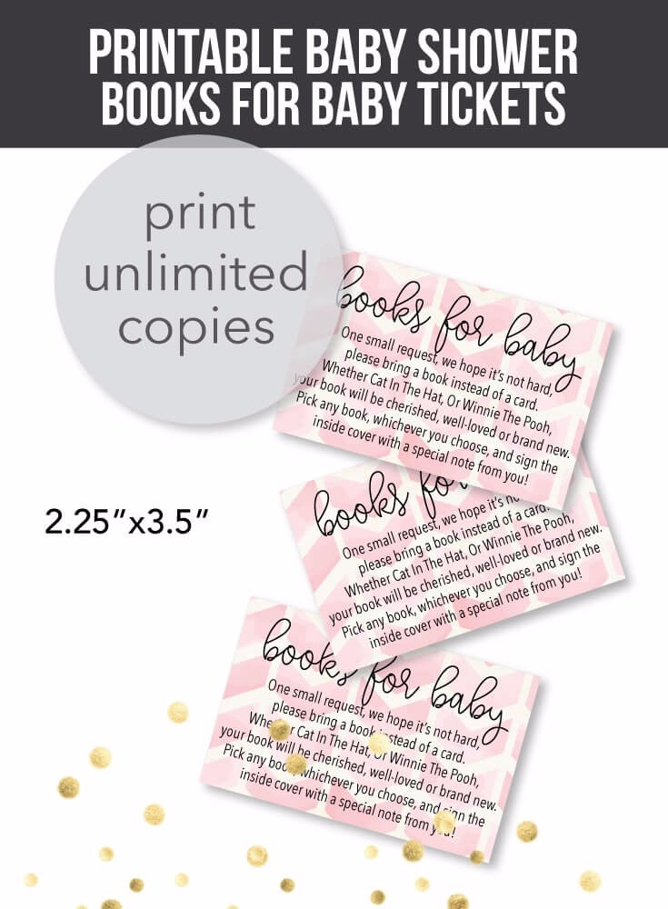 Printable Pink Arrow Books For Baby Cards