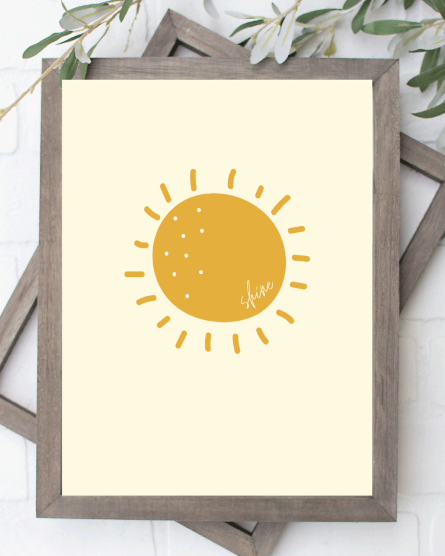 Printable Sunshine, Shine Wall Art Sign, Print