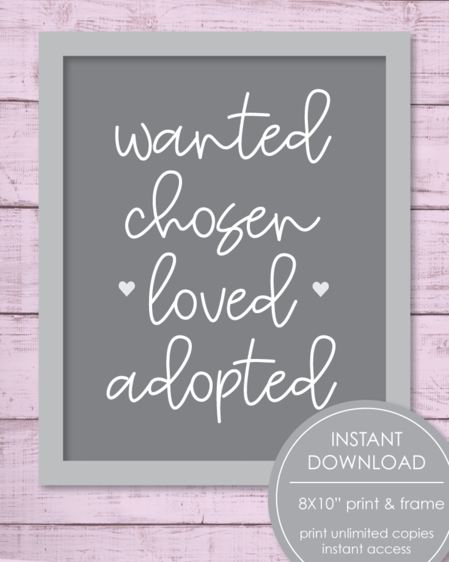 Printable Adoption, 8x10