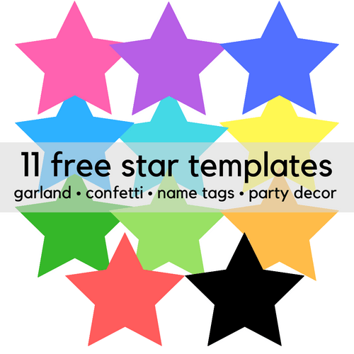 11 Free Printable Star Clip Art Templates