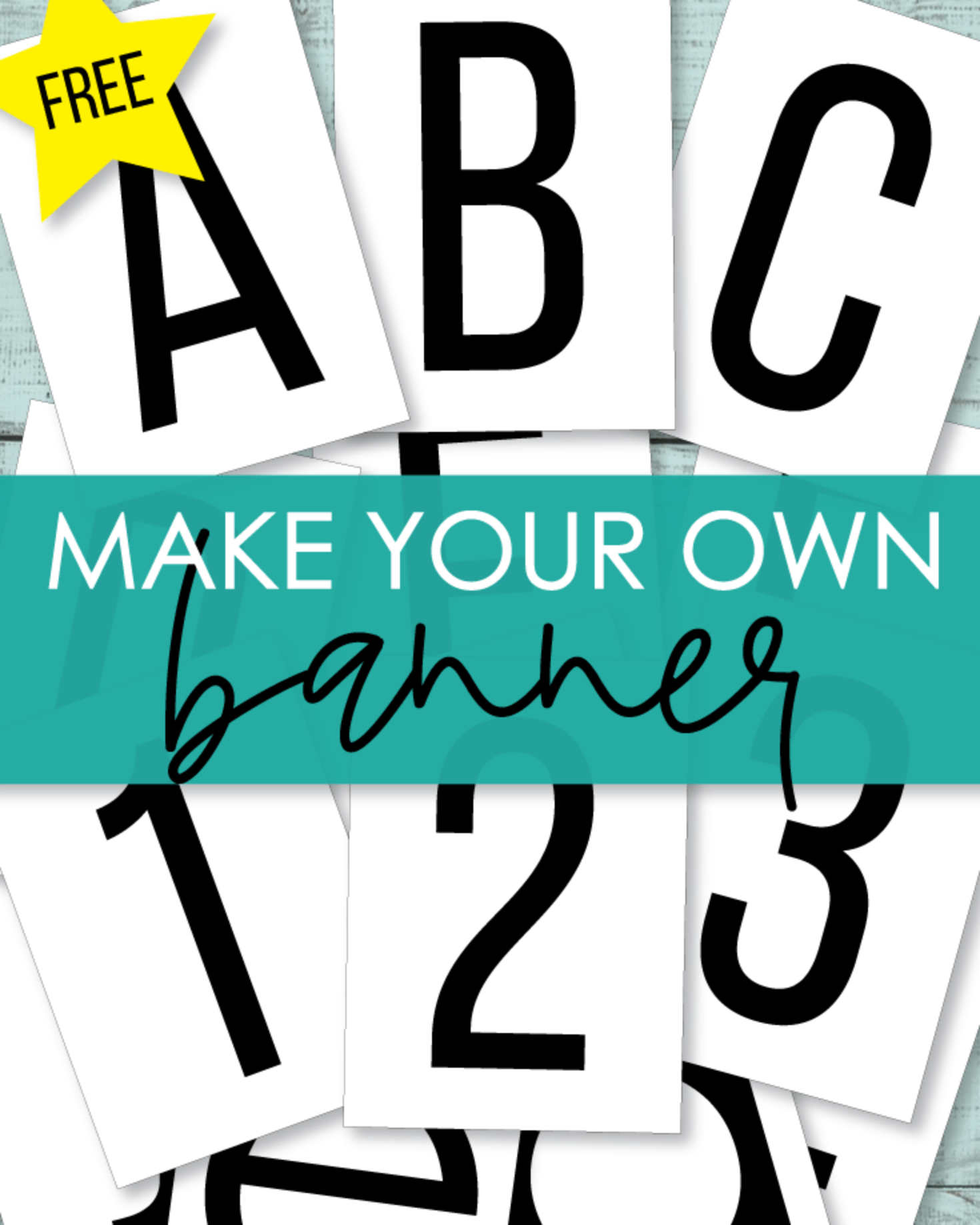 Free Alphabet Printables ABC Banner Letters And Numbers
