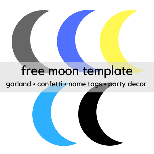 Free Printable Moon Clip Art Template