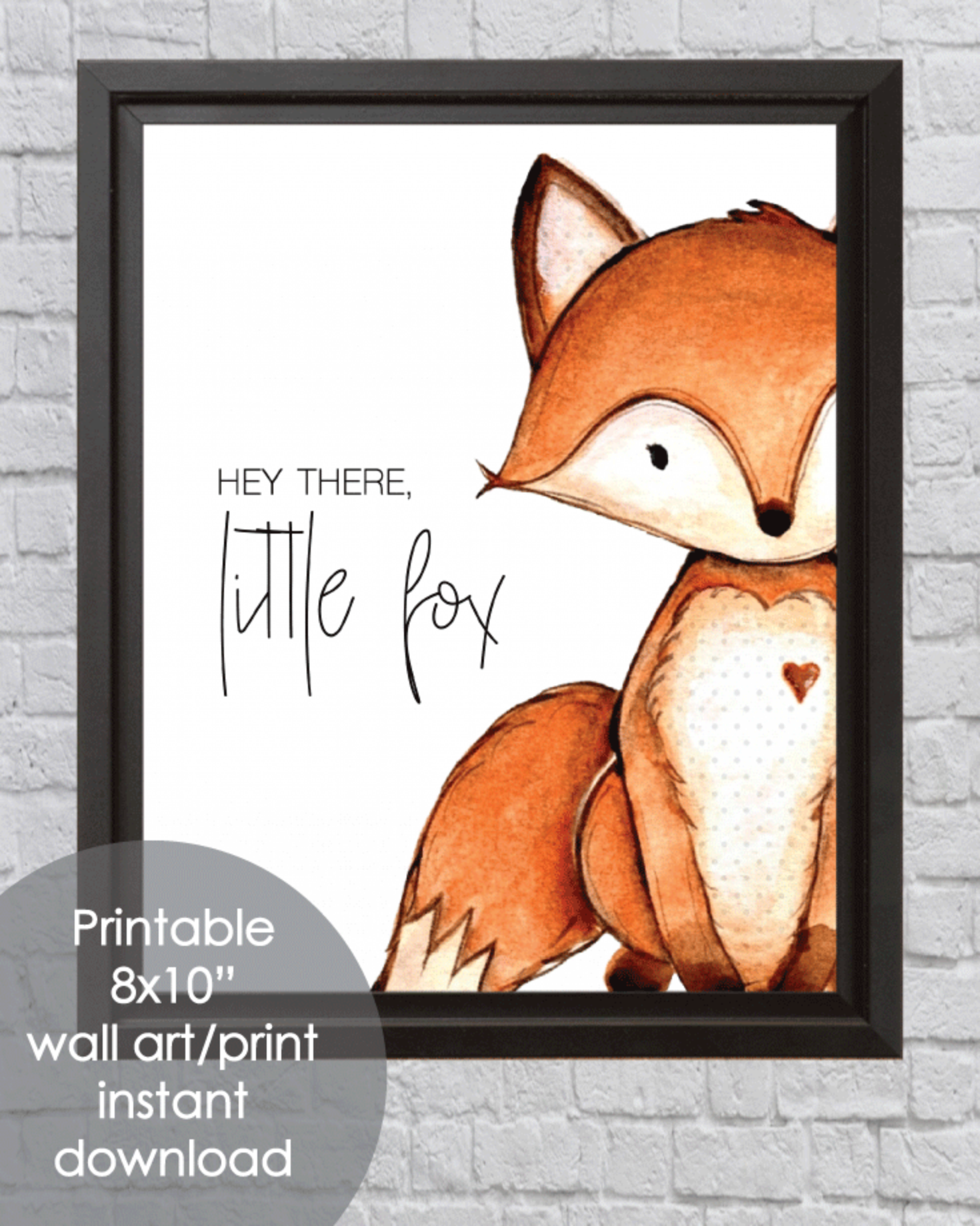 Printable Little Fox, 8x10