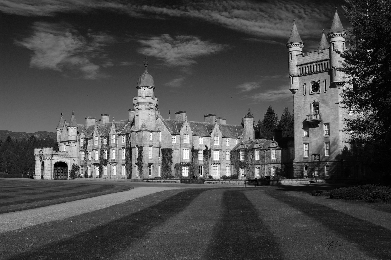 'Balmoral in Black and White '
