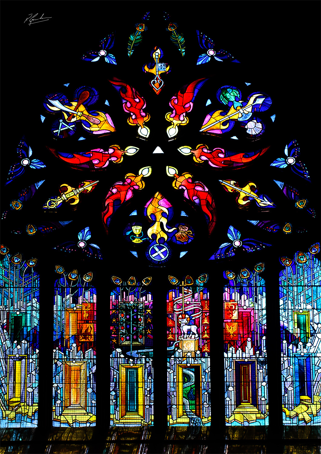 'Linthithgow Palace Stained Glass Window'