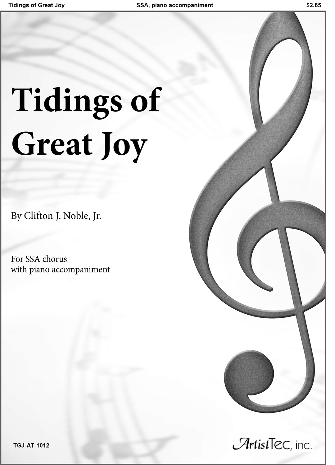 Tidings of Great Joy (SSA)