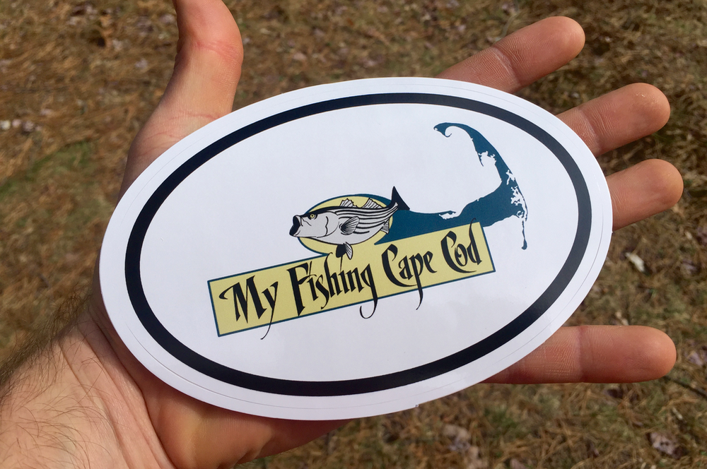 5-Pack of My Fishing Cape Cod Stickers