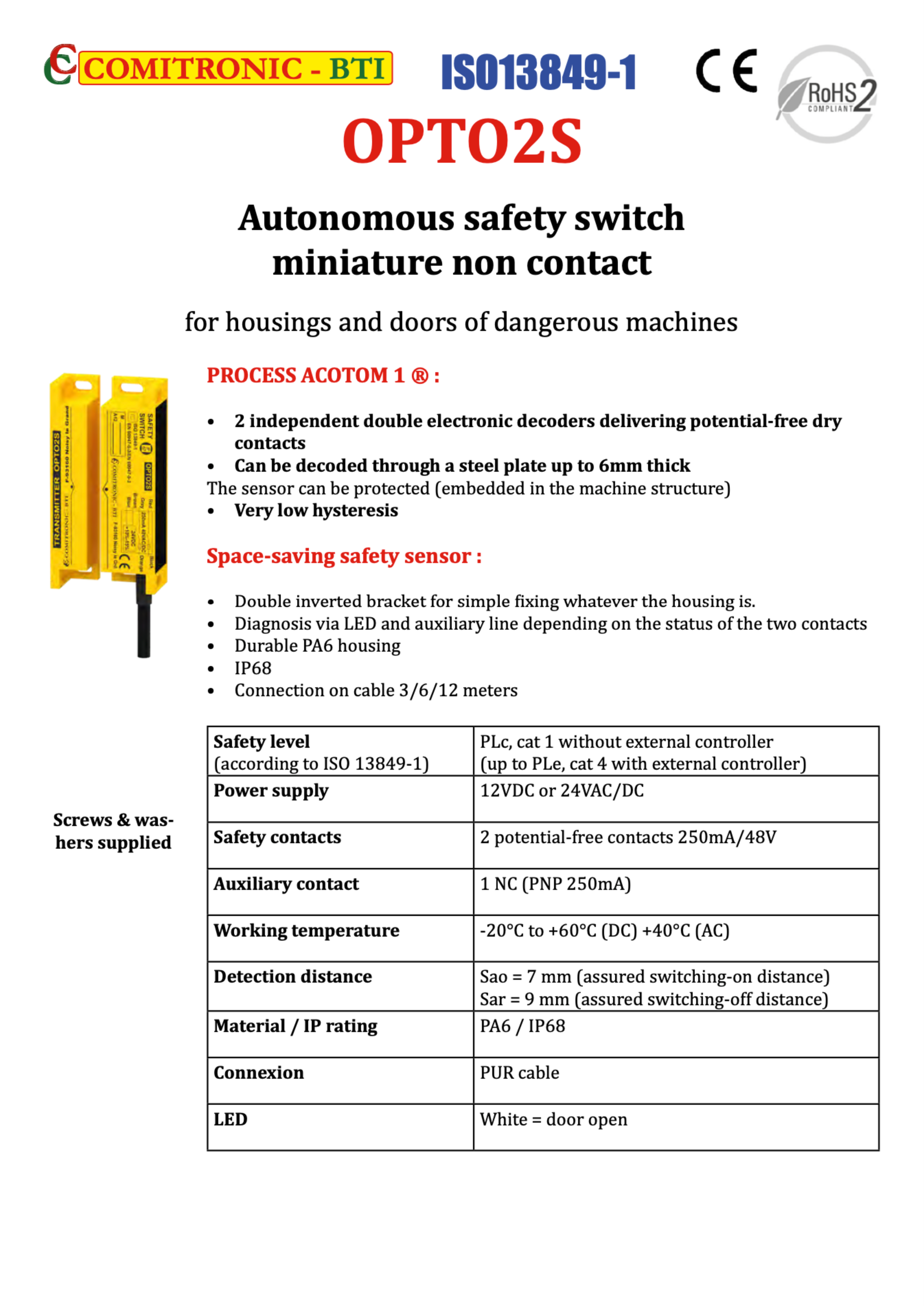 Product sheet OPTO2S