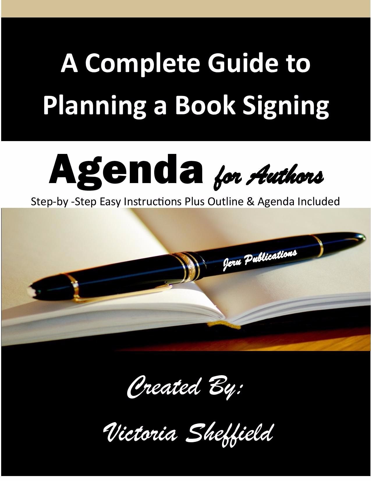 Book Signing Outline & Agenda for Author