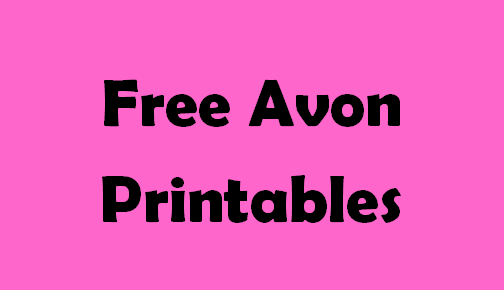 Free Printables for Avon Reps